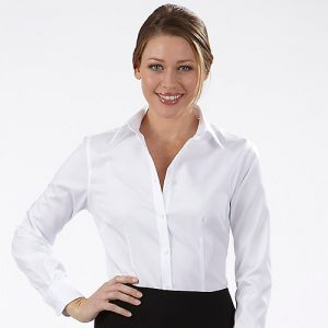 Woman White Dress Shirt