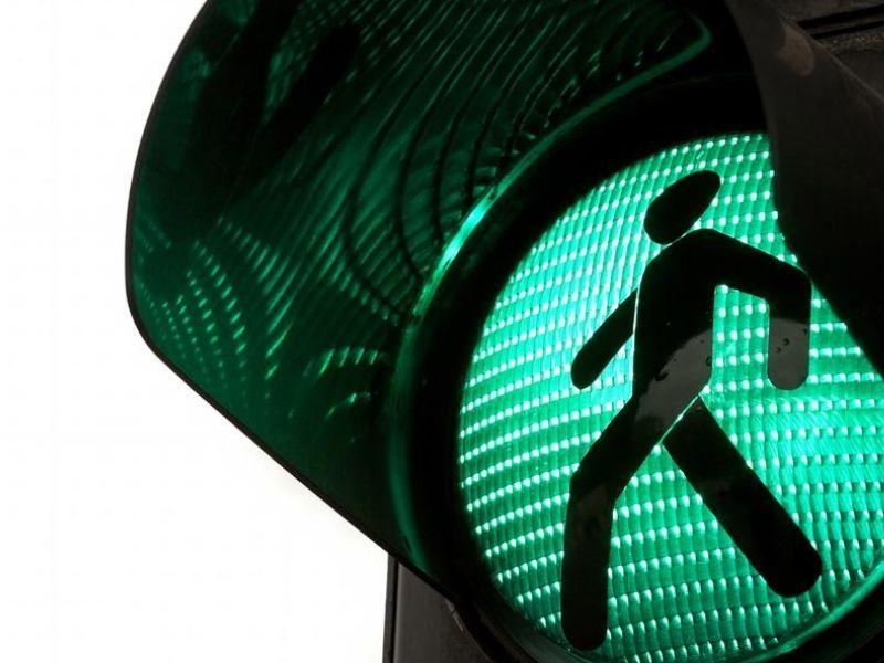 traffic light in green